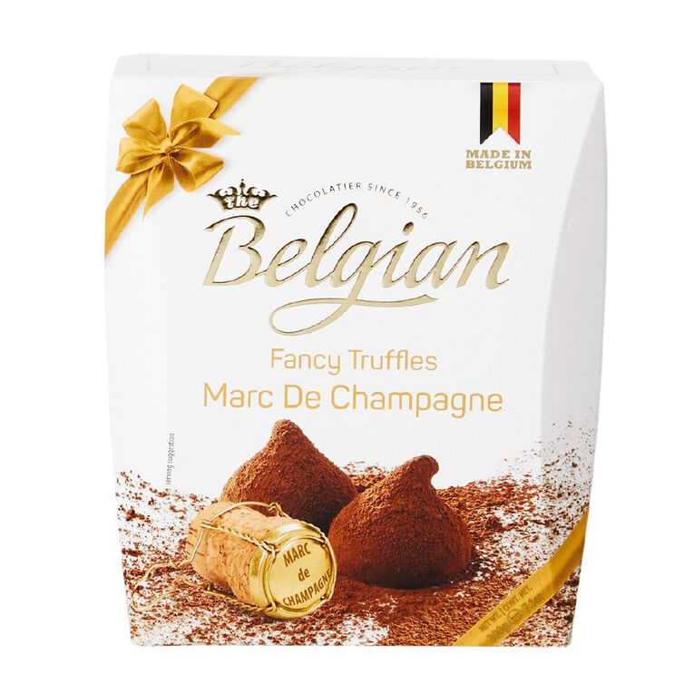 Belgian Cocoa Dusted Truffles Marc De Champagne 200g, , hi-res image number null