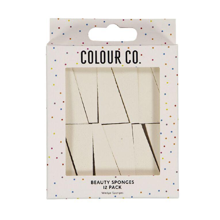 Colour Co. Beauty Wedge Sponges 12 Pack, , hi-res