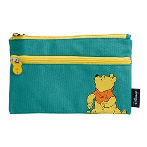 Disney Winnie the Pooh Double Zip Pencil Case Green Light