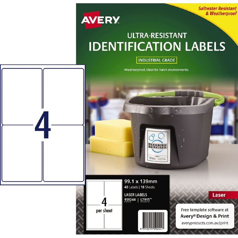 Avery Ultra-Resistant Outdoor Labels White 40 Labels, , hi-res