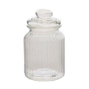 Living & Co Ridge Glass Jar Clear 1L