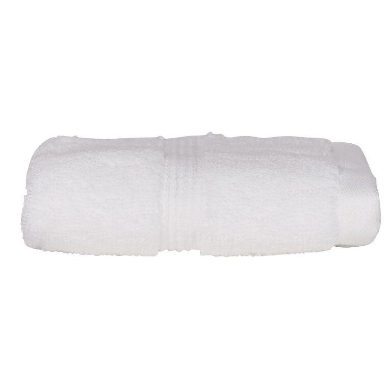 Living & Co Montreal Face Towel Optic White 30cm x 30cm, White, hi-res