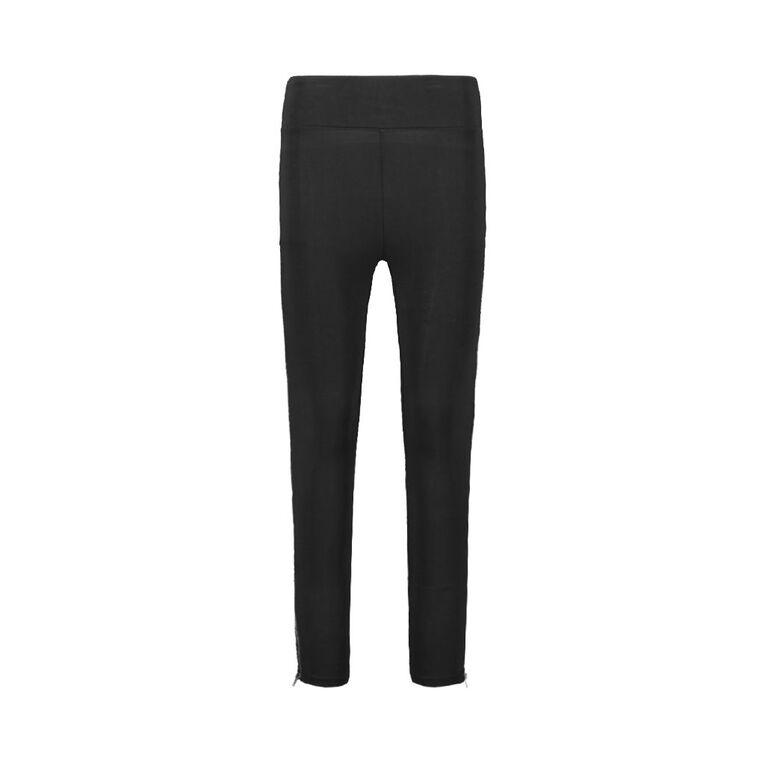 H&H Women's Zip Leggings, Black, hi-res