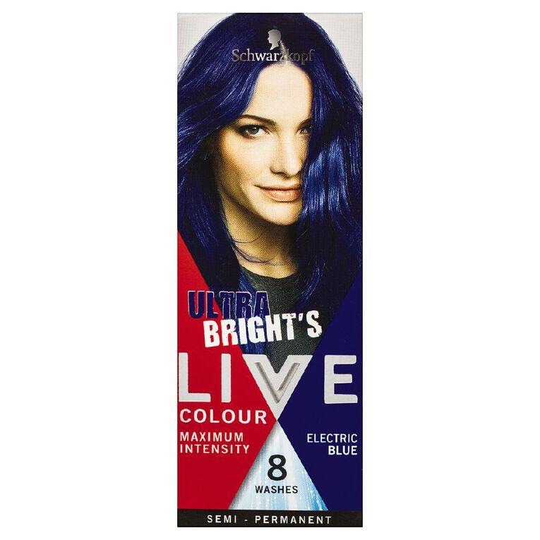 Schwarzkopf LIVE Colour Ultra Brights Electric Blue, , hi-res