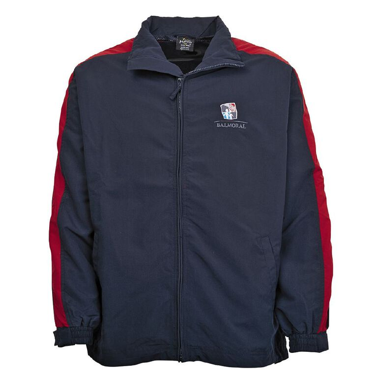 Schooltex Balmoral Intermediate Jacket with Embroidery, Navy/Red, hi-res