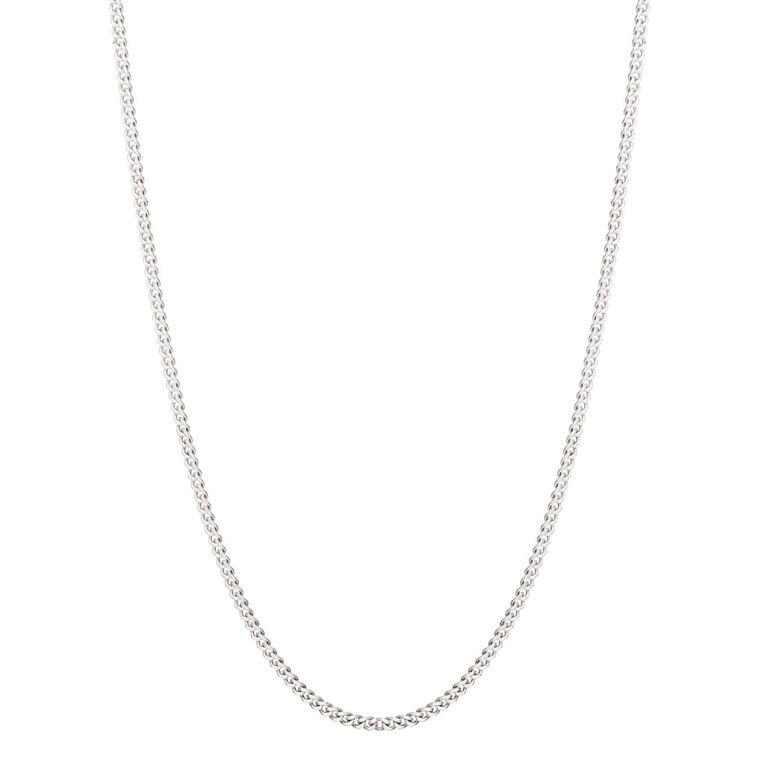 Sterling Silver Diamond Cut 40 Gauge Curb Chain 45cm, , hi-res