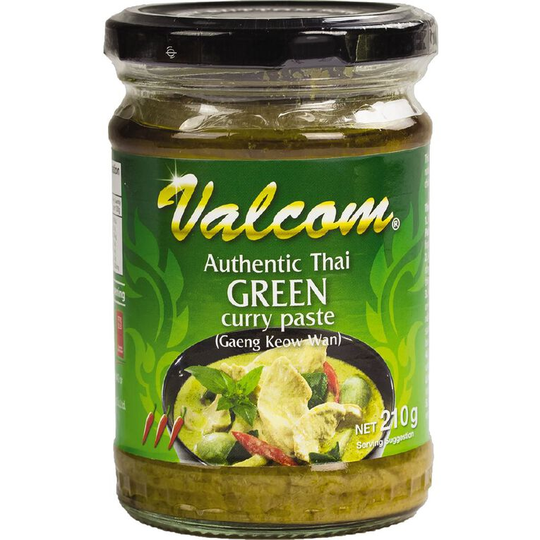Valcom Curry Paste Green 210g, , hi-res