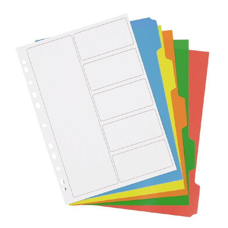 Impact PP Dividers 5 Tab Multi-Coloured, , hi-res
