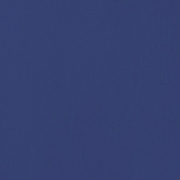 American Crafts Cardstock Textured Sapphire Blue 12in x 12in, , hi-res