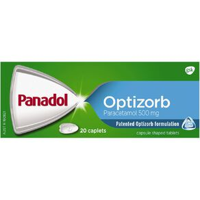 Panadol Optizorb Caplets 20s - LIMIT OF 1 PER CUSTOMER