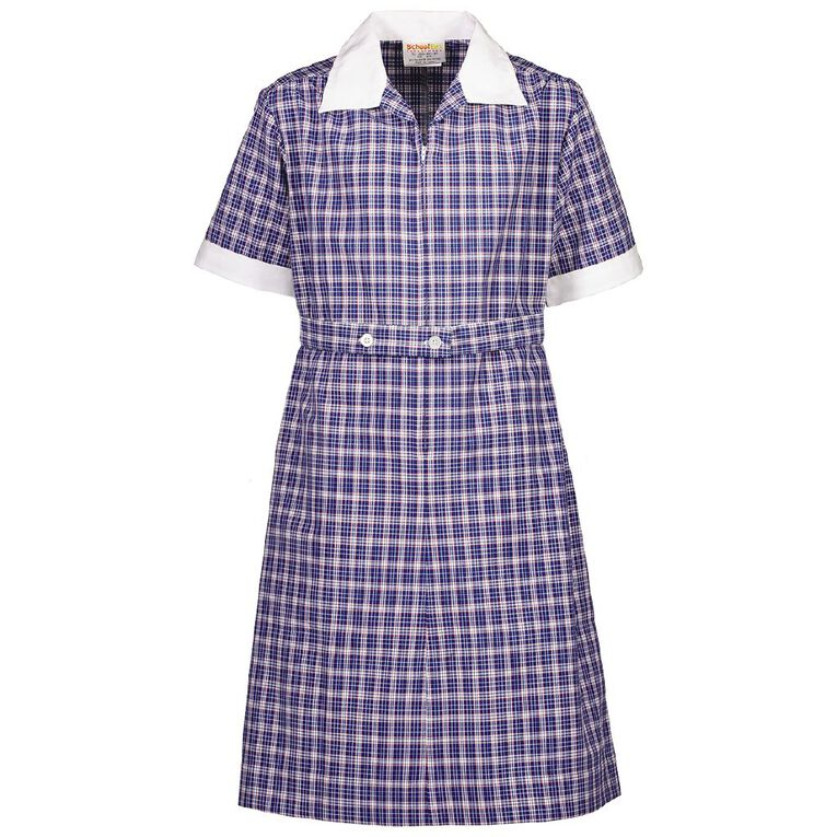 Schooltex Girls' Contrast Trim Dress, Schooltex Tartan TRT031, hi-res