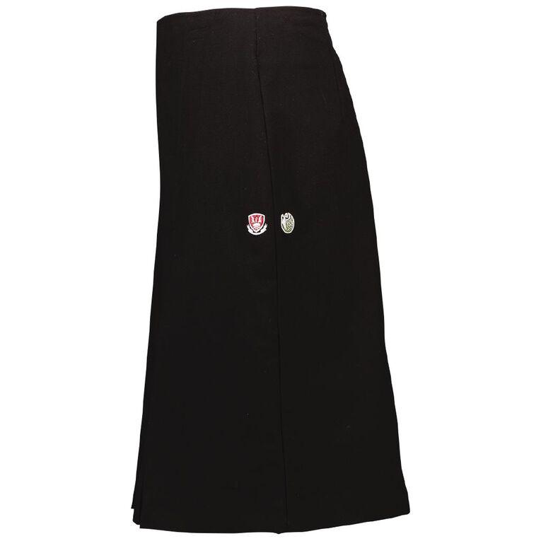 Schooltex Kamo High Inverted Pleat Skirt, Black, hi-res
