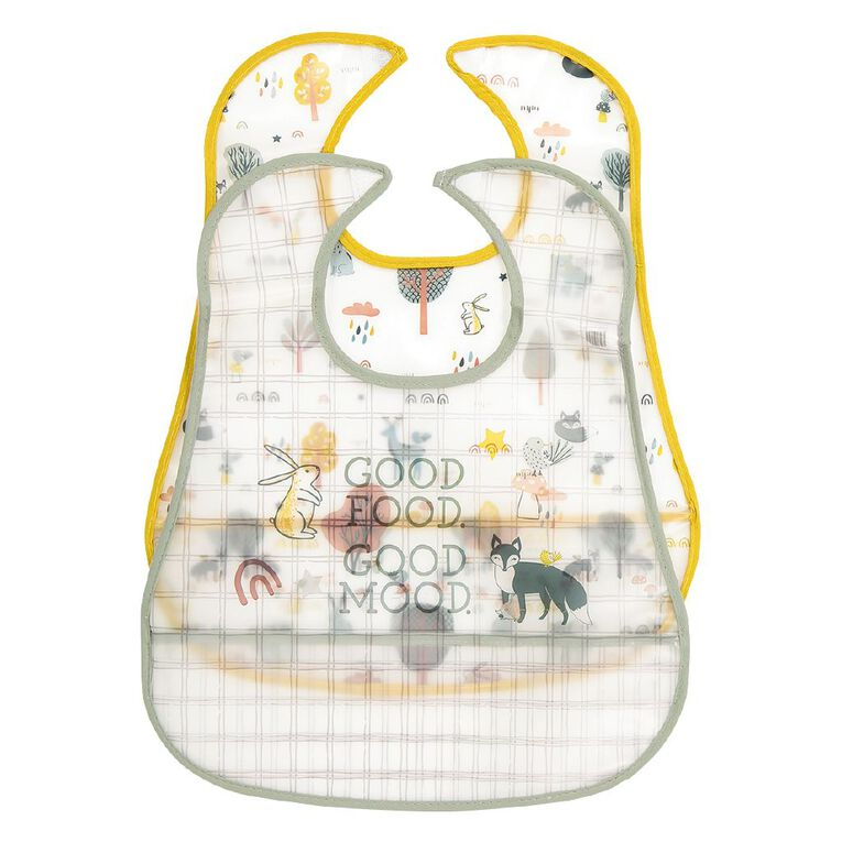 Babywise Food Catching Bibs Assorted 2 Pack, , hi-res image number null