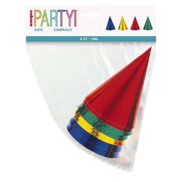 Unique Party Hats Prismatic 8 Pack, , hi-res
