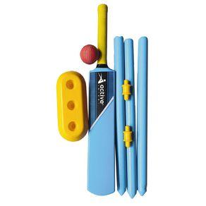 Active Intent Sports Plastic Cricket Set Size 4 Blue