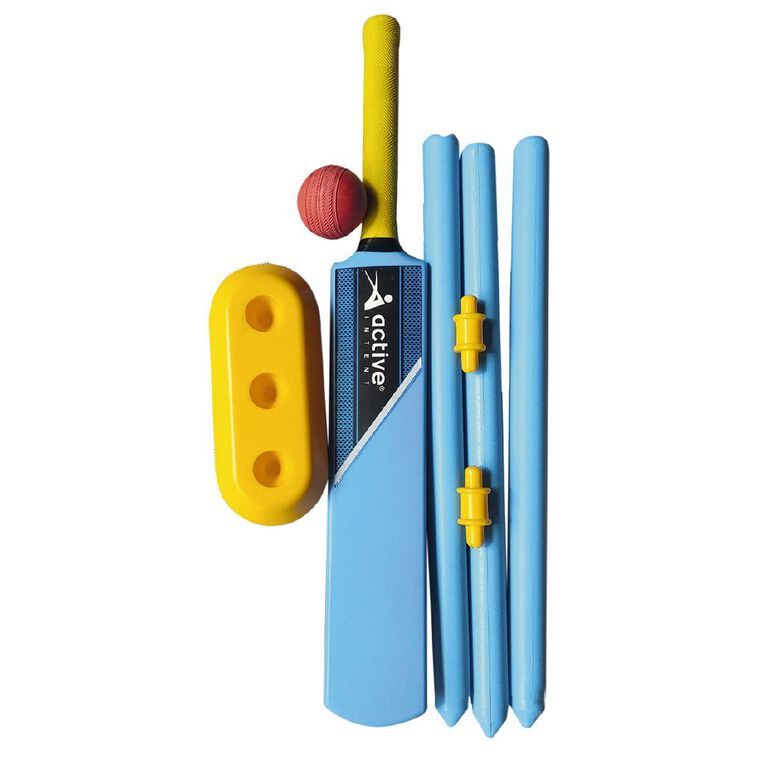 Active Intent Sports Plastic Cricket Set Size 4 Blue, , hi-res