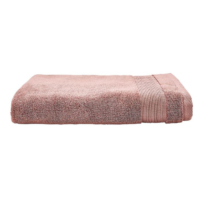 Living & Co Hotel Collection Bath Towel Pink Dark 68cm x 137cm, Pink Dark, hi-res
