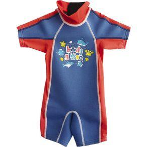 Body Glove Kids' Rash Suit Blue Size 4