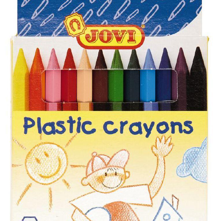 Jovi Plastic Crayons 12 Pack, , hi-res