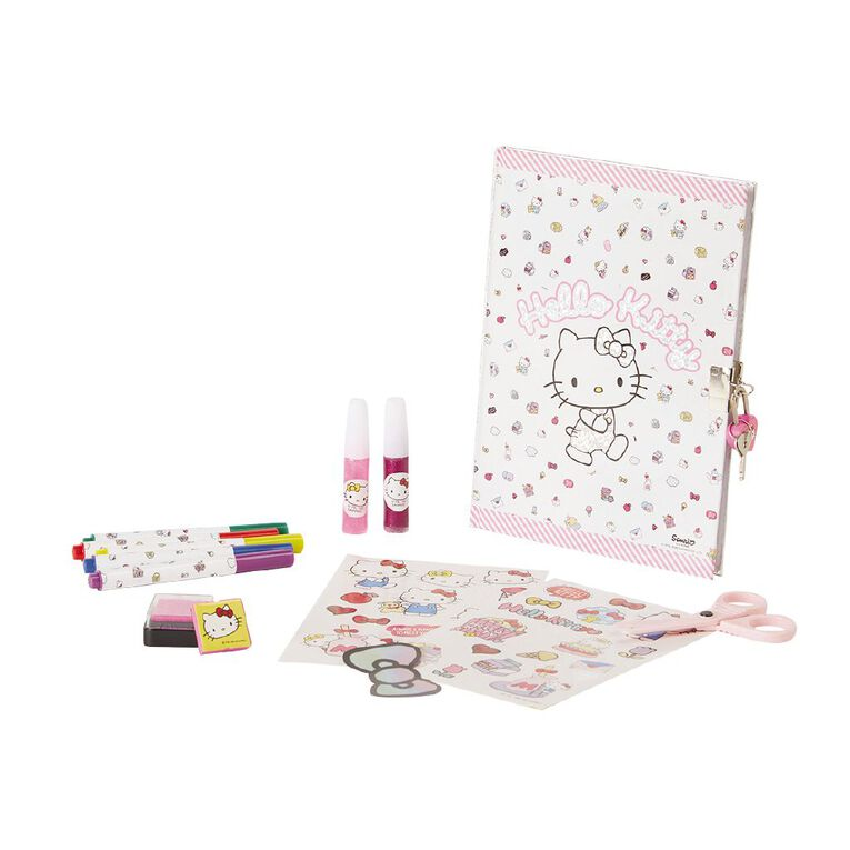 Hello Kitty Art Glitter Diary, , hi-res