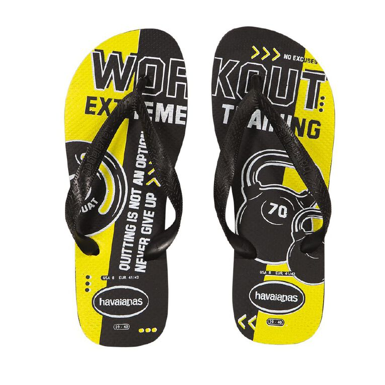 Havaianas Top Athletic Jandals, Yellow, hi-res