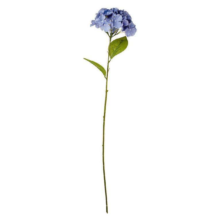 Living & Co Artificial Hydrangea Stem 80cm Blue, , hi-res