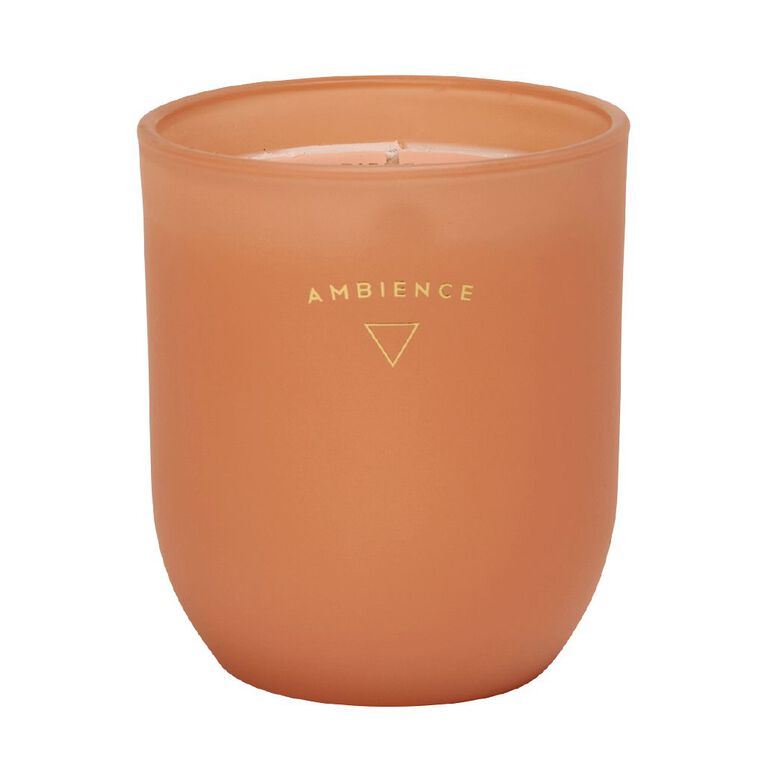 Living & Co Ambience Jar Candle Citrus Grove Orange 13oz, Orange, hi-res