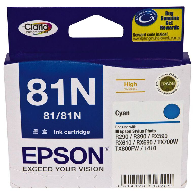 Epson Ink 81N Light Cyan (805 Pages), , hi-res