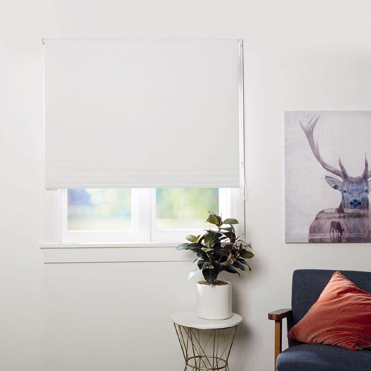 Homeworks Soho Roller Blind Alabaster White 120cm x 210cm, White, hi-res