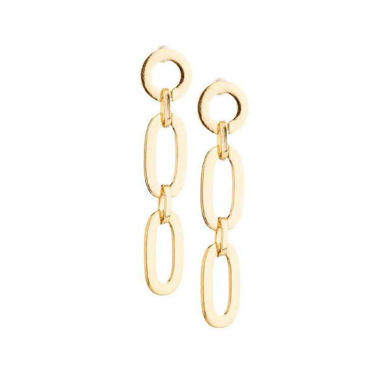 Basics Chain Earring, Gold, hi-res image number null
