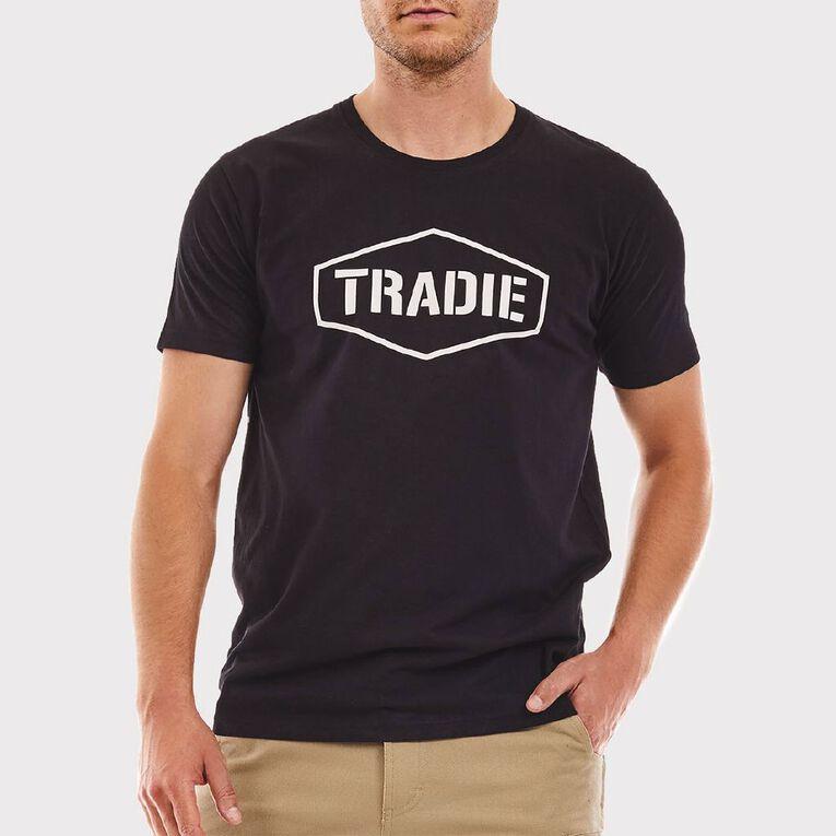 Tradie Tee, Black, hi-res