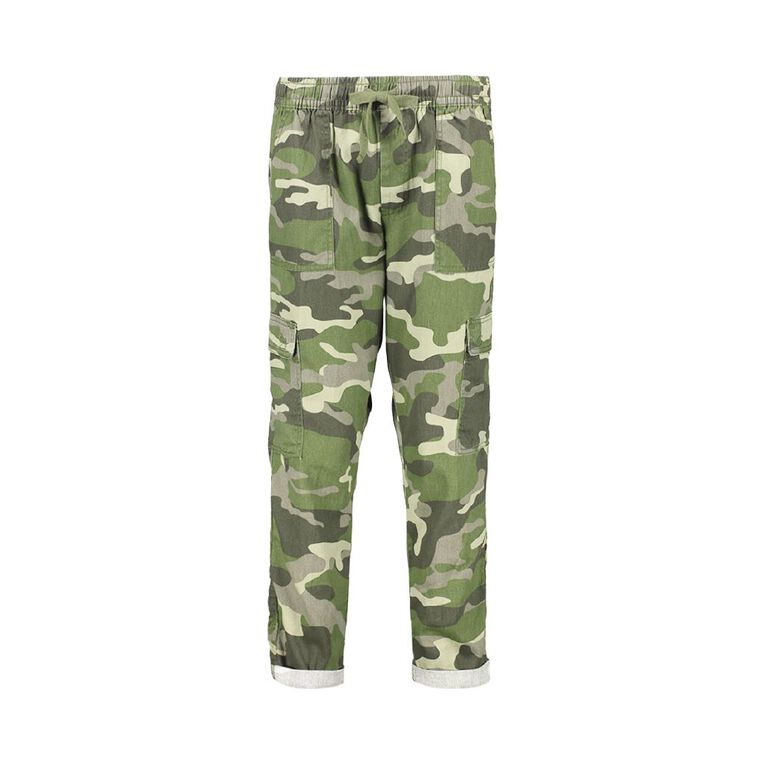 H&H Women's Cuffed Chino Pants, Khaki camo, hi-res image number null