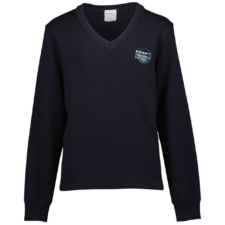 Schooltex William Colenso College Jersey with Embroidery, Midnight/Navy, hi-res