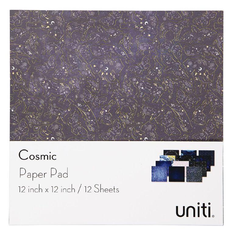Uniti Cosmic Paper Pad 12 Sheets 12in x 12in, , hi-res