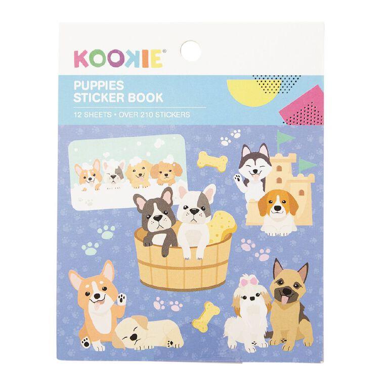 Kookie Mini Sticker Book 12 Sheets Puppies, , hi-res