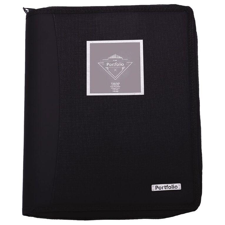 Portfolio Compendium With 10 Page Display Book Black A4, , hi-res