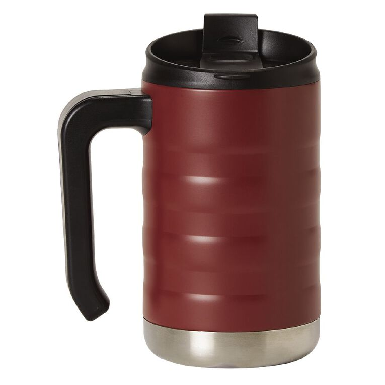 Living & Co Living & Co Stainless Steel Mug with Handle Red 470ml, , hi-res