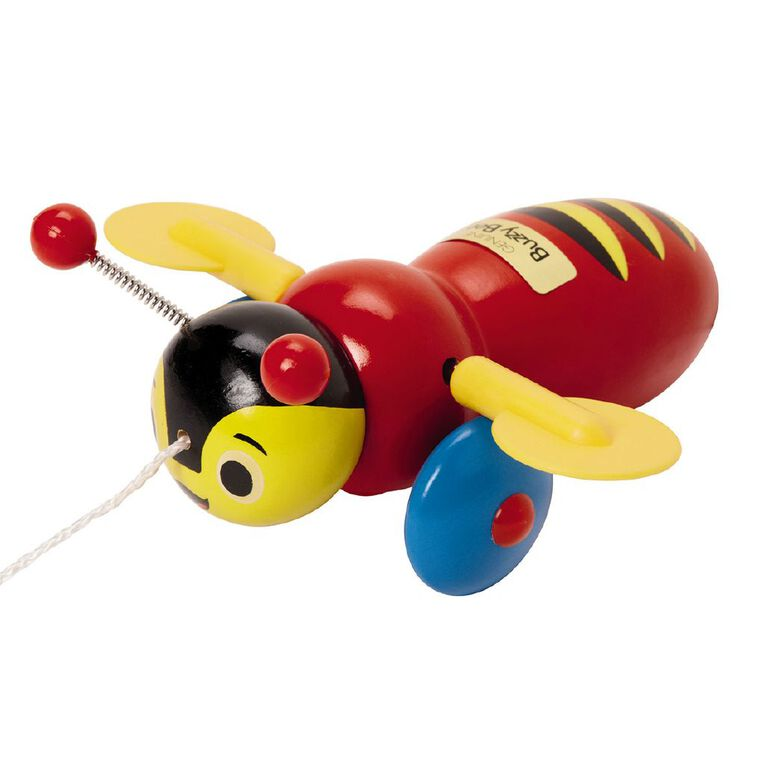 Buzzy Bee Wooden Pull Along, , hi-res