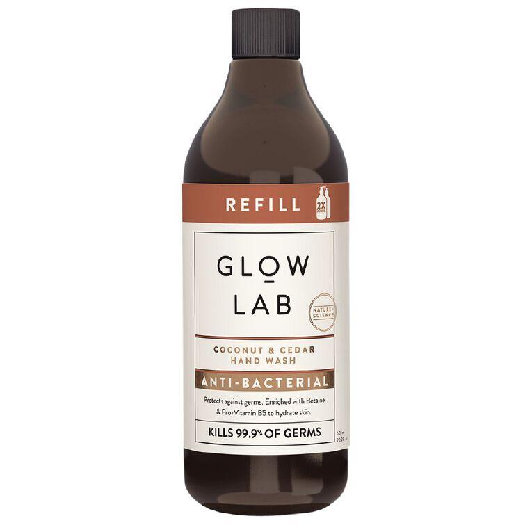 Glow Lab Handwash Coconut & Cedar Antibacterial 600ml, , hi-res