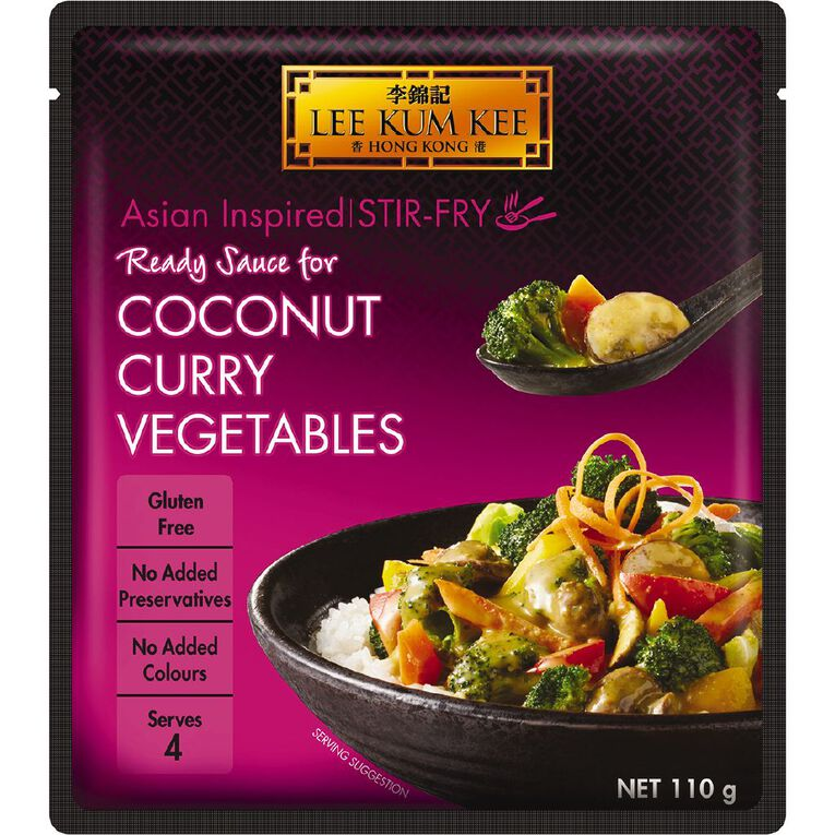 Lee Kum Kee Ready Sauce Coconut Curry 110g, , hi-res