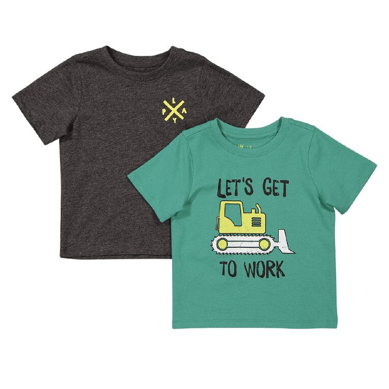 Young Original Toddler 2 Pack Short Sleeve Tee, Green Mid, hi-res