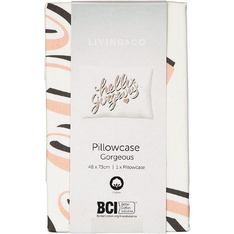 Living & Co Pillowcase Cotton 180 Thread Count Gorgeous Pink, , hi-res