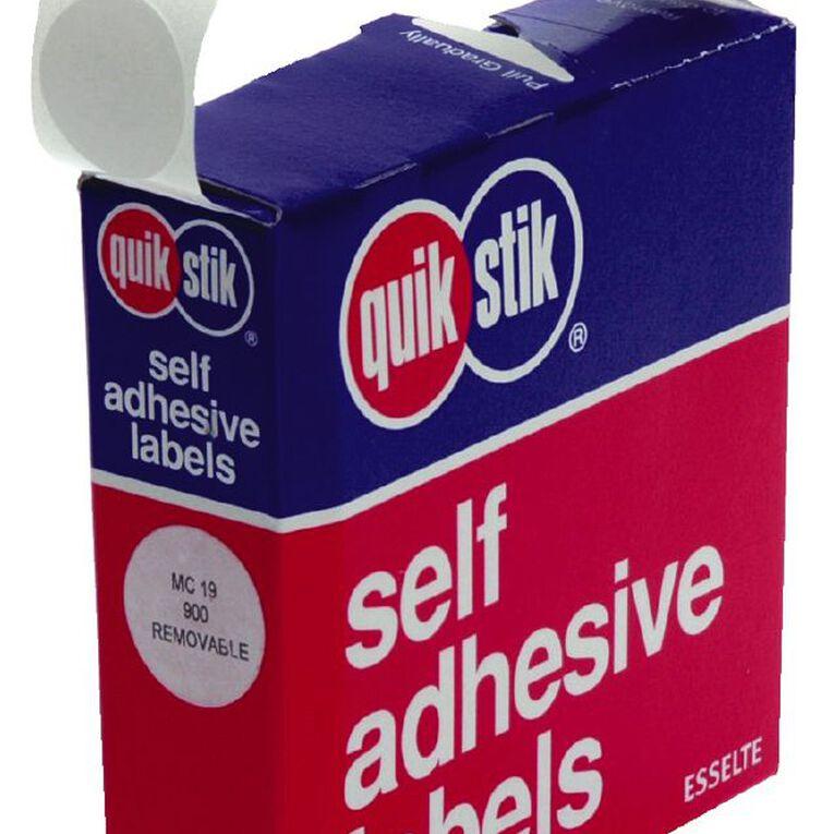 Quik Stik Labels Dots Mc19 White, , hi-res