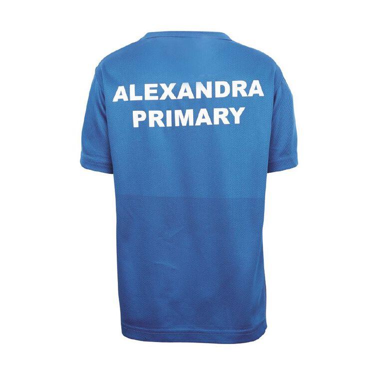 Schooltex Alexandra Primary Sports Tee with Screenprint, Royal/Black, hi-res