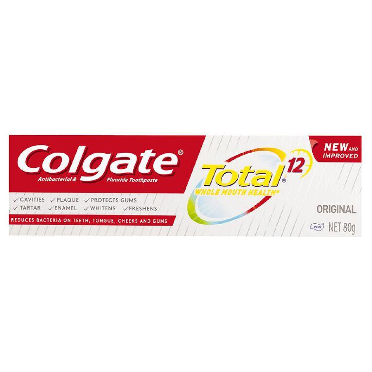 Colgate Total Original Toothpaste 80g, , hi-res