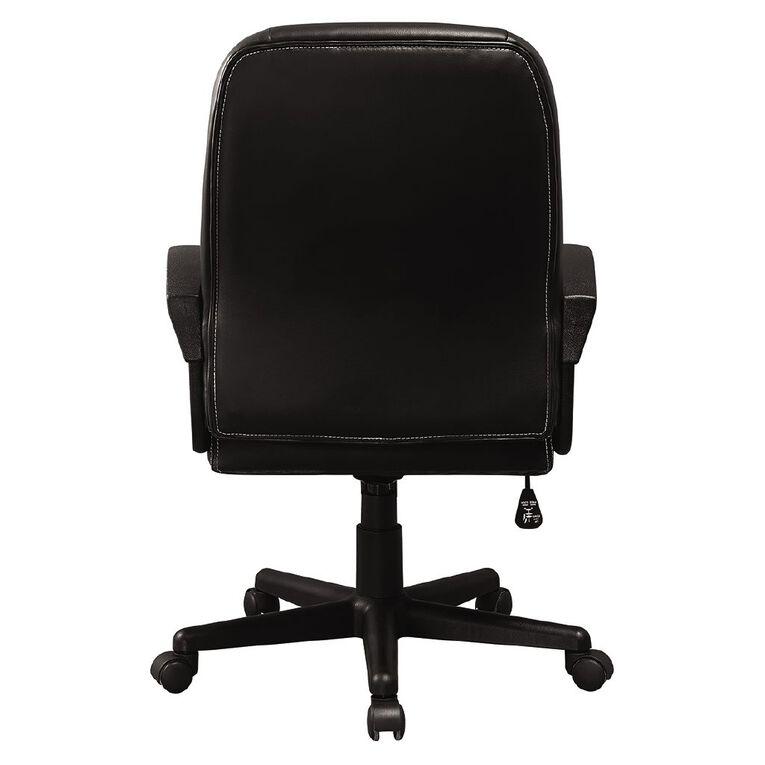 Workspace Valencia Midback Chair Black, , hi-res