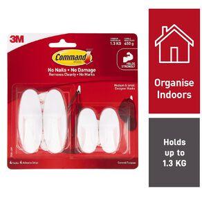 Command Designer Hooks Small & Medium Value Pack White