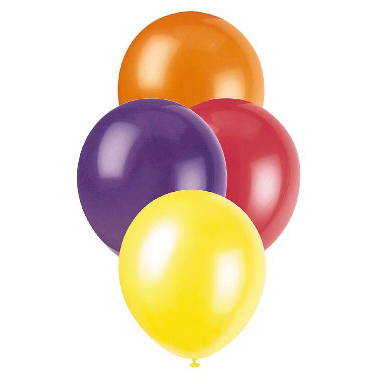 Unique Decorator Balloons 30cm 25 Pack Multi-Coloured, , hi-res