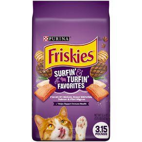 Friskies Surfin & Turfin Favourites Dry Cat Food  1.42kg