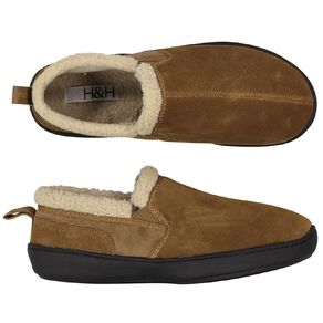 H&H Suede Leather Reece Slippers